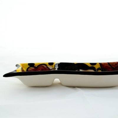 Cuenco rectangular doble pequeño ceramica la rambla