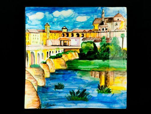 Plato cuadrado Córdoba ceramica la rambla