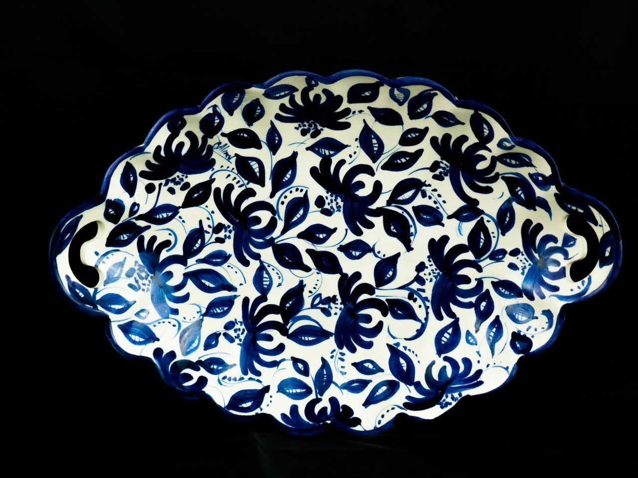 Plato motivos azules 1 ceramica la rambla