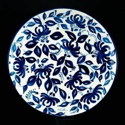 Plato motivos azules 3 ceramica la rambla