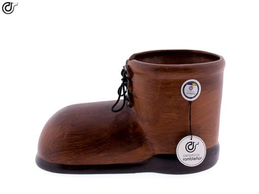 comprar-centro-de-mesa-zapato-bota-marron-05