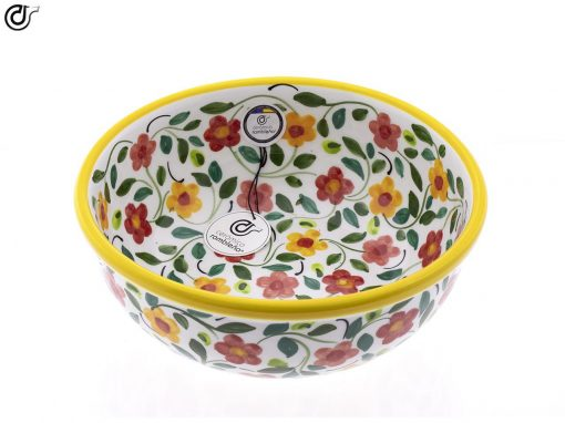 comprar-ensaladera-bol-ceramica-decorado-amarillo-modelo-04-02
