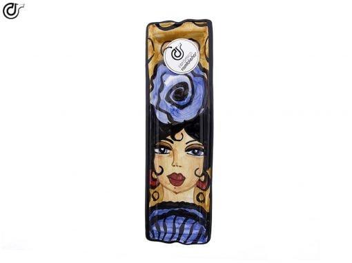 comprar-soporte-cucharas-decorado-flamenca-azul-modelo-06-03