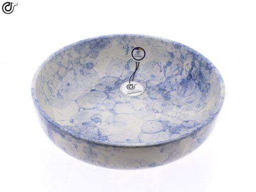 comprar-ensaladera-Bol-decorado-burbujas-Azul-Modelo-09-02