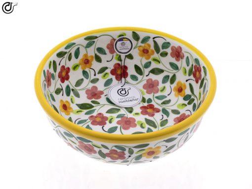 comprar-ensaladera-bol-ceramica-decorado-amarillo-modelo-04-2
