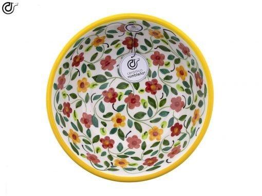 comprar-ensaladera-bol-ceramica-decorado-amarillo-modelo-04-3