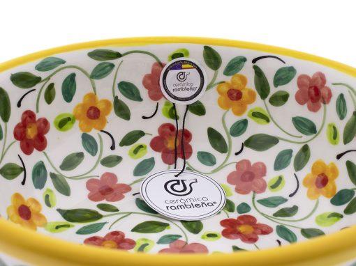 comprar-ensaladera-bol-ceramica-decorado-amarillo-modelo-04-4
