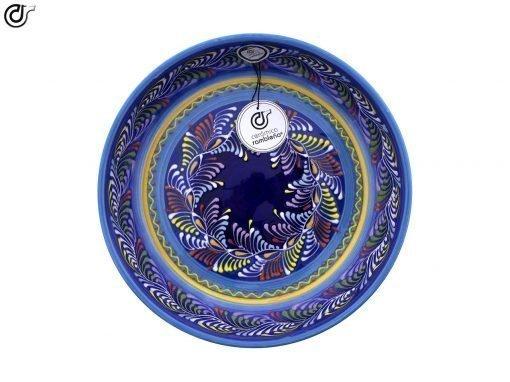 comprar-ensaladera-bol-decorado-azul-modelo-13-03