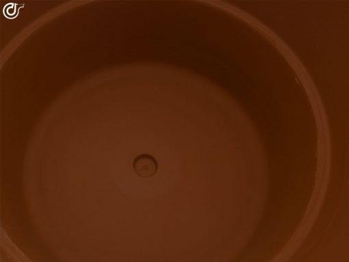comprar-maceta-de-barro-rojo-copa-baja-decorada-Marron-Nogal-Modelo-J28-04
